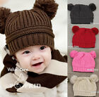New Cute Children Kid Girl Beanie Pom Knit Hat Toddler Beret Cap Winter Headwear