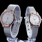 Golden Edge Couple Lover Mens Womens  Stainless Steel Quartz Wrist Watch Watches