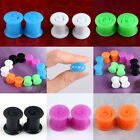 1Pair Silicone 6-14mm Double Flare Flexible Ear Tunnel Plugs Swirl Earlets Gauge