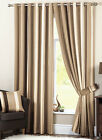 whitworth lined eyelet (ring top) curtains natural