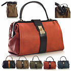 New Designer Boutique Rigid Opening Single Top Handle Womens Satchel Handbag
