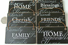 Shabby Chic Style Mono Single Hanging Wall Plaques 6 Styles