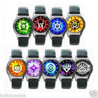 NEW* GREEN LANTERN Power Rings Round Metal WATCH Leatherband
