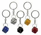 Dice / Die Keyring (ALL COLOURS) - Novelty Keychain