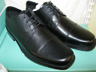 CLARKS MENS SMART BLACK LEATHER  LACE UP SHOES 'G' WIDTH FIT- AMPLE ACT