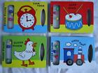 BABY'S RATTLE BOARD BOOKS - 4 TITLES TO CHOOSE FROM - THEY RATTLE!!! - BRAND NEW