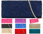 SATIN LACE DIAMANTE BRIDAL WEDDING EVENING PARTY PROM CLUTCH HANDBAG
