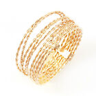 18K GP 8-Linked Braid Band Ring R796G All Size