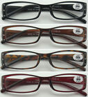 L22 Womens' Fancy Diamante Plastic Reading Glasses Wide Spring Hinges/Value Pack