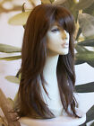 LONG LAYERED HEAT RESISTANT LADIES WIG BROWN BLONDE BLACK & RED LADY WIG  FRINGE