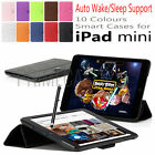 ULTRA THIN SMART PU LEATHER CASE COVER WTIH TRIANGLE STAND FOR APPLE IPAD MINI