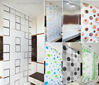 Modern Bathroom Shower Curtain Roller Blinds Extra Long Available, 5 Width Sizes