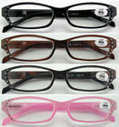 (L30)Plastic Frame Reading Glasses from £0.99 a Pair/Diamante/+3.50+350+4.00+400