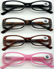 (L33) Plastic Frame with 10 pieces of diamante Reading Glasses+3.25+325+3.75+375