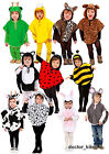 Child Toddler Animal Fancy Dress Costume Poncho Age 1 2 3 4 5 6 Dog Tiger Rabbit