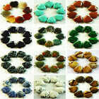 YL-65  Beautiful 8pcs heart mixed stone pendant bead
