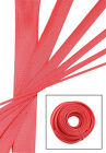 RED Wire and Hose Sleeve Sleeving Kit Braided Cover Loom Protector Stereo Heat