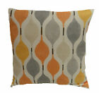 "1 CUSHION COVER-retro  VERVE col JUICE orange grey 12"",14""16,18"",20"" 22"" 24"