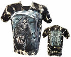 The Grim Reaper Glow In The Dark Skull Axe Tye Dye T- Shirt M - XXL
