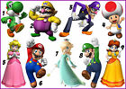 MARIO STICKER WALL DECAL OR IRON ON TRANSFER TSHIRT FABRICS LUIGI YOSHI PEACH CP