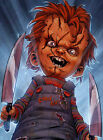 CHUCKY - KNIVES - FRAMED 100% COTTON CANVAS PRINT - ready to hang