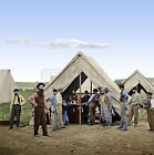 Sutler Tent 2d Division 9th Corps Petersburg Color Tinted photo Civil War 01731