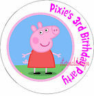 PERSONALISED BIRTHDAY PEPPA PIG STICKERS SEALS GIFT FAVOURS INVITES KIDCS16