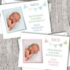 Personalised PHOTO Thank You Cards ~ Announcement/Christening. Baby Boy/Girl D20