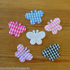 Padded Gingham Butterfly - Applique - Topper - Wedding - Favour - Sewing - Cards