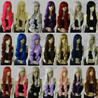 21 Color Heat Resistant 32 in. Long Spiral Curly Cosplay Wig Free Shipping 83G