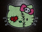 HELLO KITTY ZOMBIE EMBROIDERED PATCH APPLIQUE