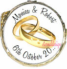 PERSONALISED WEDDING DAY GOLD RINGS DIY MINT CHOCS FAVOURS SWEETS WDMC 8