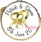 PERSONALISED WEDDING DAY TWO GOLD RINGS MINT CHOCOLATES FAVOURS SWEETS WDMC 20