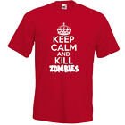 KEEP CALM AND KILL ZOMBIES T-SHIRT Funny