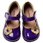 Little Blue Lamb Purple Flower Leather Mary Jane Shoes Toddler Girl 6 to 10 New