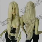 32in. Long Heat Resistant No-Bangs Blonde Big Wavy Cosplay Wig Free Shipping 72A
