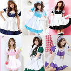 Sexy Costume Maid Wonderland Cosplay Full Dress Ruffle Lolita outfit 6 Colors