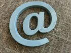 "Movie Theatre Marquee Letters- The ""AT"" sign aka ""@"" 17 Inch Tall DOVE GREY"