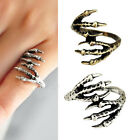 Retro Vintage Punk Rock Gothic Eagle Bird Claw Ring
