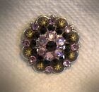 Berry Concho ~ Handcrafted with Light Purple & Black  Swarovski Elements