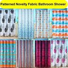Patterned Novelty Fabric Bathroom Shower Curtain 180 cm x 180cm With Hooks