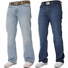 New Mens Straight Leg Heavy Duty Regular Blue Denim Jeans Pants All Waist Sizes