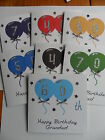 Stunning Personalised Handmade Male  Birthday Card ANY AGE/OPEN/RELATION
