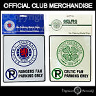 Rangers or Celtic Football No Parking Metal Wall Sign Official FC Club Crest New