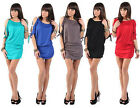 Open sleeve sexy stretch mini dress/top, one size s/m
