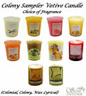 COLONY Sampler Votive Roomscenter Candle  Choose your Fragrance Various COLONIAL