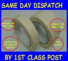 24mm & 48mm wide MASKING TAPE 50mm long rolls SAME DAY DISPATCH sticky back pape
