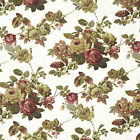 CANVAS NATURAL MUSLIN COTTON UPHOLSTERY SOFA FABRIC ANTIQUE CHIC FLORAL ROSE 44""