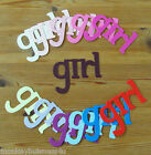 Word Die Cuts - girl - Topper - Baby Shower - Birth Invitations - Kids - Cards
