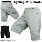 Off Road MTB Cycling Cycle Shorts With Padded Liner Short Size - S-M-L-XL
